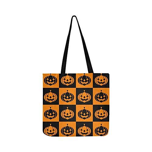 Halloween Icons Canvas Tote Handtasche Schultertasche Crossbody Taschen Geldbörsen für Männer und Frauen Einkaufstasche