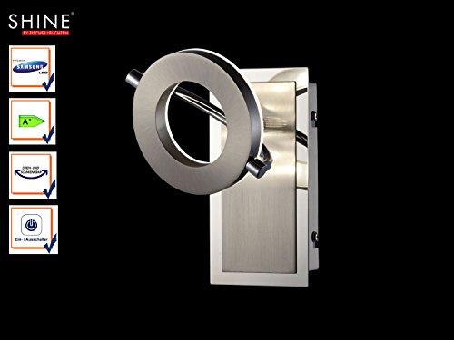 Moderner LED Wandspot / Wandleuchte SHINE-LED mit Schalter, Spot schwenkbar, Fischer Leuchten 54901