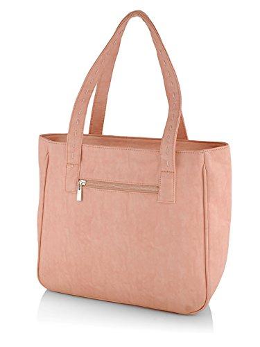 Butterflies Women's Handbag (Peach) (BNS WB0126)