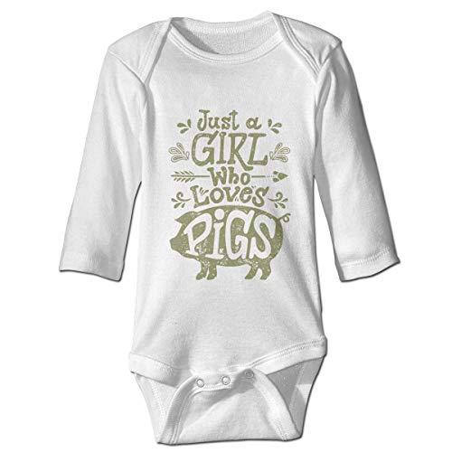 Cute Kostüm Easy Baby - Daisy Evans Mädchen liebt Schweine Baby Body Cute Onesie Cotton Outfits Kostüm, 12M
