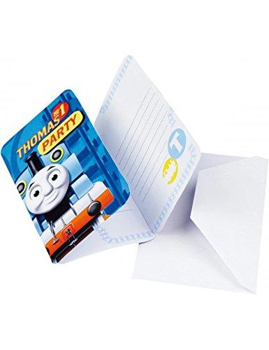 Amscan 552164–6Einladungskarten–Briefumschläge Thomas und Friends