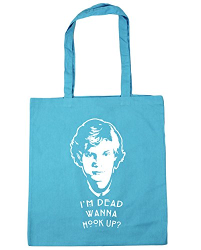 hippowarehouse I 'm Dead Wanna Hook Up? Tote Shopping Gym Beach Bag 42cm 3838, 10Liter Blau (Surf Blue)