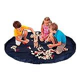 Bolsa de almacenaje recoge juguetes estilo alfombra. Tapete organizador ideal para almacenamiento de Lego....