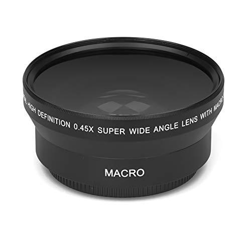0.45x - 62mm HD Echtglas Marken Optik Weitwinkel Makro Vorsatz Linse Objektiv