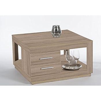 couchtisch festival sonoma eiche quadratisch 80x80 k che haushalt. Black Bedroom Furniture Sets. Home Design Ideas