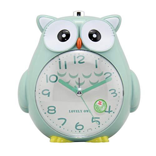 Surenhap Kinderwecker Niedliche Eule Silent Nachtlicht Wecker Snooze Funktion Stille Uhr für Kinder