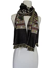 Vozaf Women's Viscose Shawls - Black And Brown