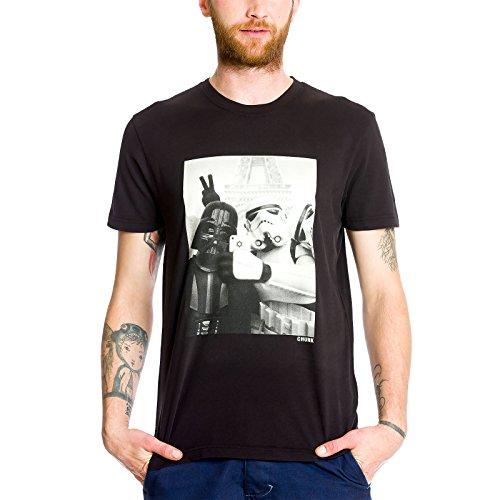 Star Wars Empire Selfie T-Shirt mit Darth Vader und Stormtrooper chunk Markenware weinrot Schwarz