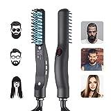 Cepillo Alisador de Barba Profesional, Kaliwa LCD Peine de Peluquería Multifuncional para Hombre/Mujer, Cepillo Alisador de Pelo & Barba Peine Rápida Eléctrico