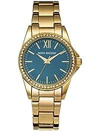 Mark Maddox MM3015-27 - Reloj de cuarzo para mujer, correa de otros materiales color dorado