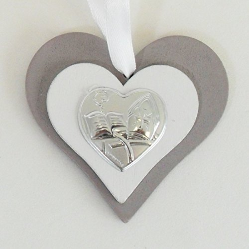 Dlm24562 icona cuore in legno per cresima (kit 12 pezzi) bomboniera