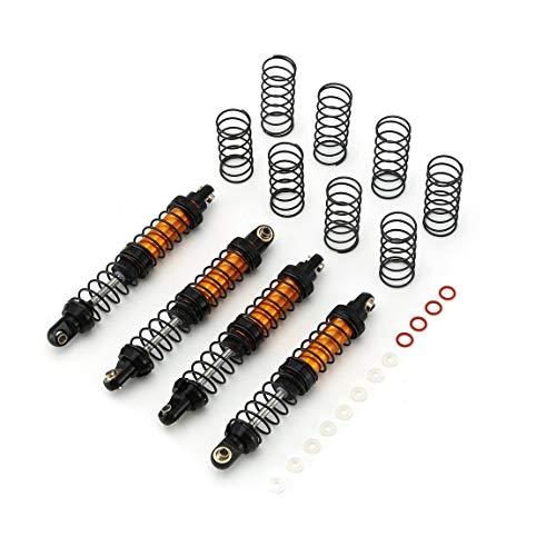 73JohnPol 4 Stücke RC Rock Crawler Metall Öl Suspension Stoßdämpfer 70mm-120mm Für Scx10 D90 Wraith TRX-4 90046 RC CarOrange-90mm