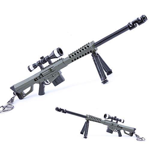 M82A1 Scharfschützengewehr Trompete Barrett Metall Spiel Requisiten Pistolen Modell Action Figure Kunst Spielzeug Sammlung Keychain Geschenk