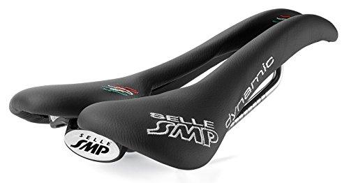 Selle SMP Dynamic Sella Bicicletta Corsa, Nero Cromato, M