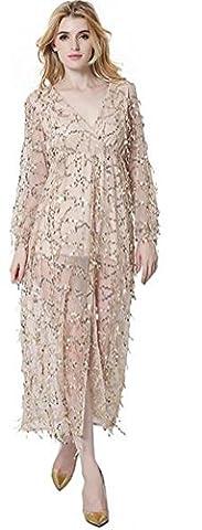 SunIfSnow - Robe spécial grossesse - Tunique - Uni - Manches Longues - Femme - blanc cassé - L