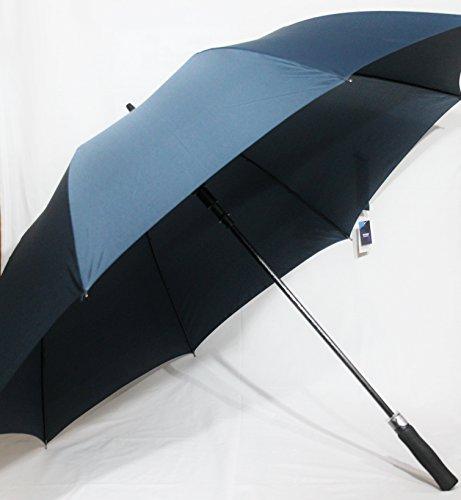 Hochwertiger XXL Golfschirm (extra groß) mit Fiberglas in dunkelblau, Automatik (HT5939P)