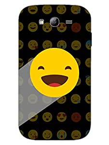 Whatsapp Emoji - Blissfully Happy - Black - Designer Printed Hard Back Shell Case Cover for Samsung Grand Duos Superior Matte Finish Samsung Grand Duos Cover Case