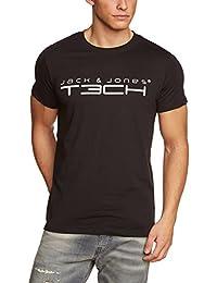 JACK & JONES T-Shirt JJ TC Foam New Tee Short Sleeve Crew Neck Noos - Camiseta de running para hombre, color negro, talla M