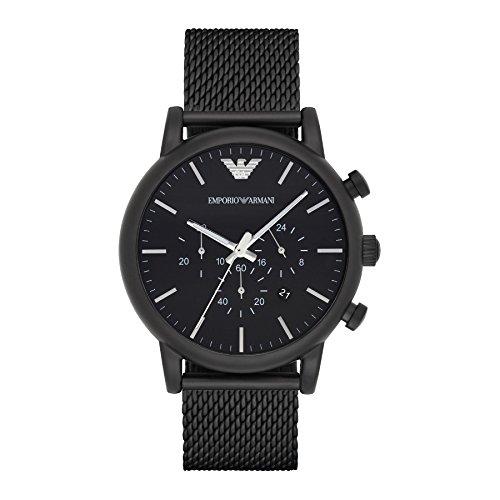 Emporio Armani AR1968 Mens Classic Black Chronograph Watch