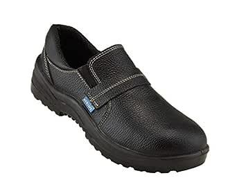 Neosafe A5012_6 Tuff PU Leather Safety Shoes, Size 6, Black