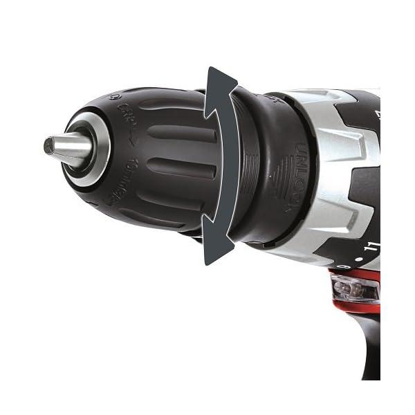 Einhell TC-CD 12 Li – Taladro atornillador 12 V sin Cable con Cabezal Extraible, 2 velocidades, con cargador, batería 1.3 Ah, mandril portabrocas desmontable, luz LED y maletín