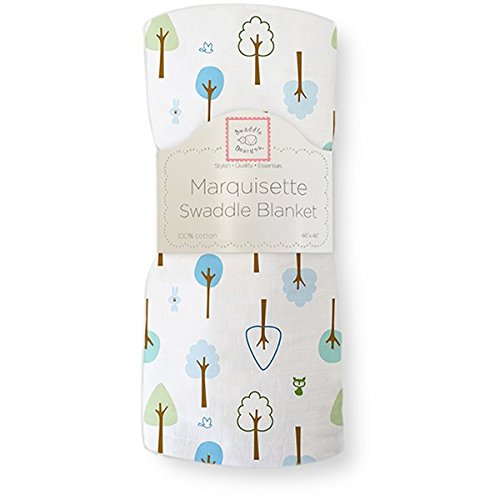 SwaddleDesigns Marquisette Swaddling Blanket, Cute and Wild , True Blue (japan import)