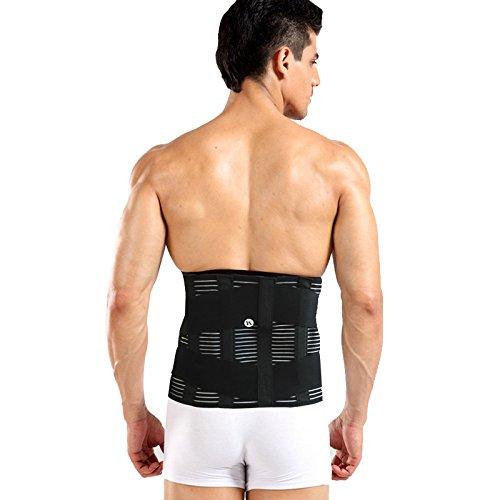 Eustoma Orthopädische Rückenstütze, Männergürtel Atmungsaktiv Taillenkorsett Taillenrückenstütze Gürtel Wirbelsäule Unterstützung - Kompression Taillenkorsett