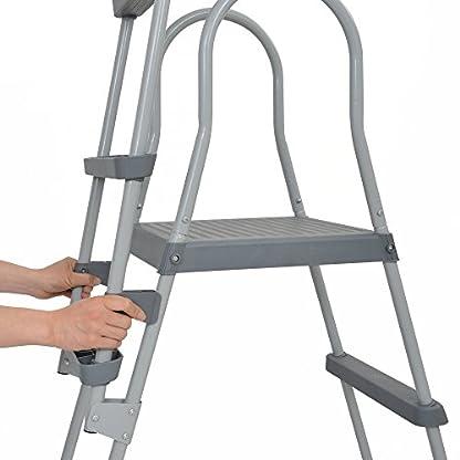 JILONG – 29R150– Escalera con Dispositivo de Seguridad, 122cm, Gris