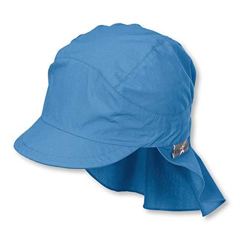 Sterntaler Schirmmütze für Jungen mit Nackenschutz, Alter: 4-6 Jahre, Größe: 55, Samtblau
