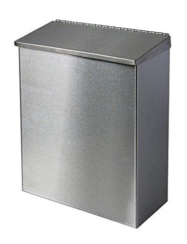 Racon Abfallbehälter, Abfalleimer Edelstahl mit Deckel u. Bodenklappe ca. 7 Liter
