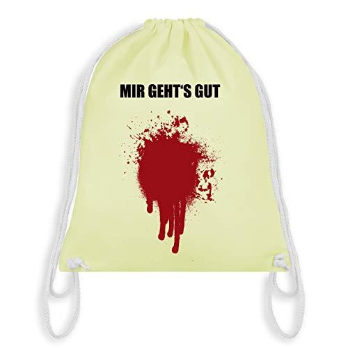 Halloween - Mir geht's gut Blutfleck Kostüm - Unisize - Pastell Gelb - WM110 - Turnbeutel & Gym Bag