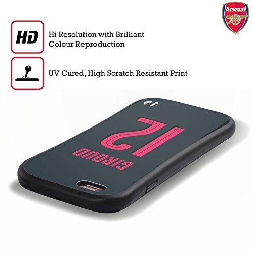Ufficiale Arsenal FC Alex Iwobi 2017/18 Giocatori Kit Third Gruppo 1 Case Ibrida per Apple iPhone 6 Plus / 6s Plus Olivier Giroud
