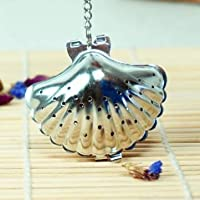 Stainless Steel Shell Shape Tea Leaf Infuser Spice Strainer Filter