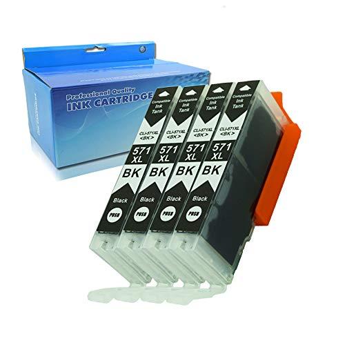 Teng® Tintenpatrone Canon PGI-570XL CLI-571XL kompatibel mit TS5050 TS6050 MG5750 TS5055 MG6850 TS6051 TS6052 MG5753 MG6851 MG5752 TS5051 TS5053-4 Photo Schwarz