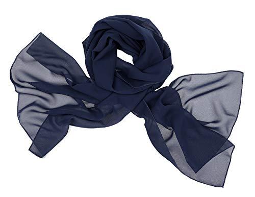 bridesmay Chiffon Stola Schal Scarves für Kleider in Verschiedenen Farben Navy L -