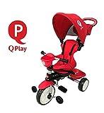 Mondial Toys TRICICLO QPlay COMFORT 4in1 CON MANIGLIONE DIREZIONABILE E CAPPOTTINA PARASOLE COLORE...