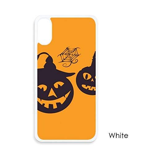 beatChong Halloween Kürbisse Kerzen Cobwebs für iPhone X-Hüllen Weiß phonecase Apple-Abdeckungs-Fall-Geschenk