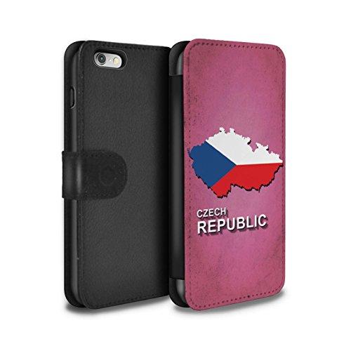 STUFF4 PU-Leder Hülle/Case/Tasche/Cover für Apple iPhone 8 Plus / Italien/Italienisch Muster / Flagge Land Kollektion Tschechische
