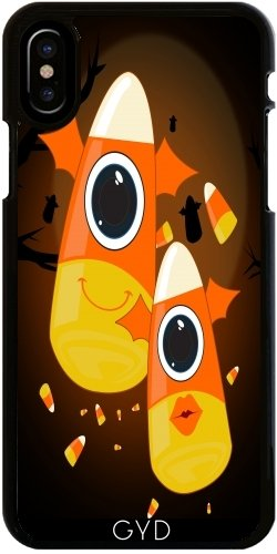 (DesignedByIndependentArtists Hülle für iPhone X - Süßigkeit-Mais-Monster by Adamzworld)