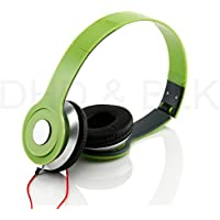 HeadGear 3.5mm Foldable Headphone Headset for Dj Headphone Mp3 M Pc Tablet Music Video and All Other Music Players (Green)