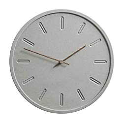 Xinyexinwang Radio Control Clock Nordic Creative Minimalist Wall Clock for Home Office Living Room Accessories - No Annoying Ticking (29 * 29cm),A