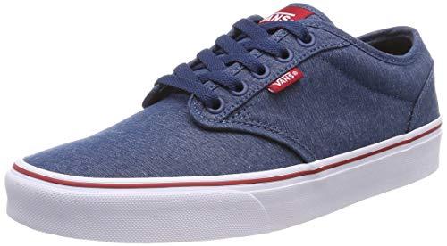Vans Herren Atwood Textile Sneaker, Mehrfarbig ((Varsity Sailor Blue/Tango Red Vel), 40 EU - Varsity Herren Schuhe