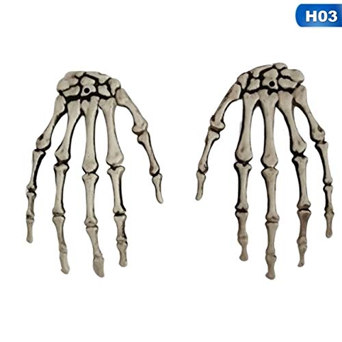 Klaue Kostüm Dunkle - KBWL Halloween Skelett Hand Klaue Skelett Hexe/Geist/Skelett Streich Skelett Klaue für Haunted House Horror Requisiten Party Decor 03
