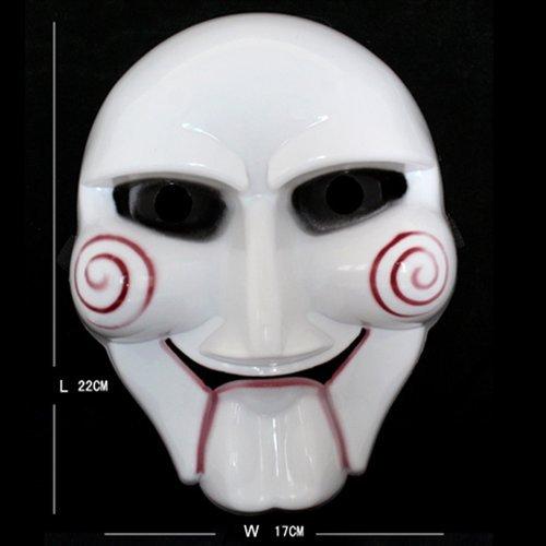 Preisvergleich Produktbild Halloween-Maske Sägekette für Kettensäge killer original-Maske aus hochwertigem PVC