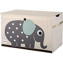 3Sprouts caja almacenamiento elefante–este artículo se puede como un baúl con jouet- Excellent calidad + diseño de elefante Mignon