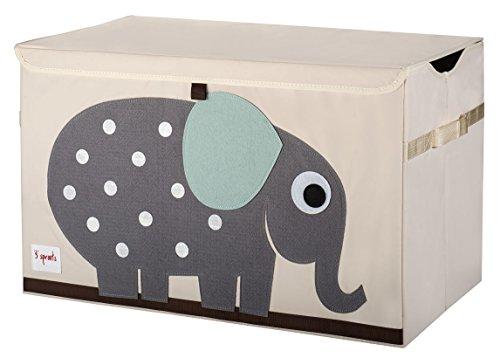 3 sprouts - scatola portatutto con elefante utilizzabile come scatola dei giochi, alta qualità, motivo con elefante.