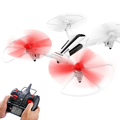 Metakoo Drone avec Caméra HD RC Drone Quadcopter avec Optical Flow Positionnement Altitude Hold Drône Video Camera avec Télécommande LED Light