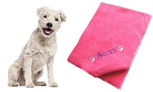 hundeinfo24.de Cosy Paw Personalisierte Hundedecke, 90 x 70 cm, Rosa