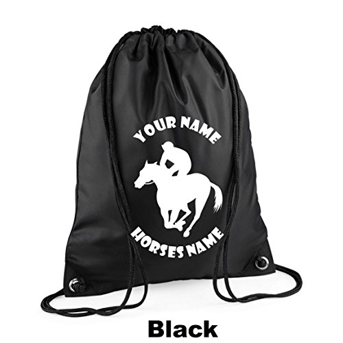 41zVUaS C7L BEST BUY UK #1Personalised Horse Riding   Racing Drawstring Gym Bag, Various colours H12 price Reviews uk