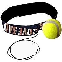 Pochers® - Pelota con banda de cabeza para entrenamiento de velocidad de boxeo, amarillo